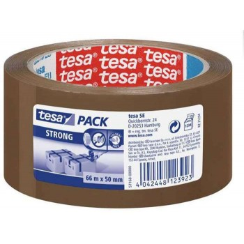 66m x 50mm Tesa Strong 57168 Coffee Packing Tape