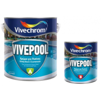 VIVECHROM - VivePool A+B / Epoxy Solvent Color 2 Components for Swimming Pools - 80431