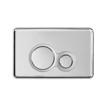 Otto chrome handle plate with japar satin ring - 5823234