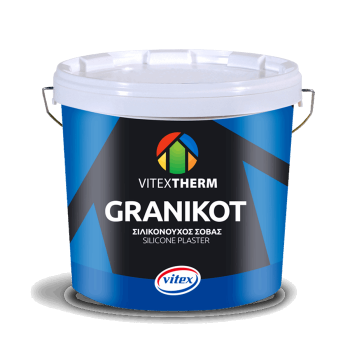 VITEXTHERM - Granikot Silicone / High Quality Silicone Plaster for GRAFIATO Finish White 25kg - 00359