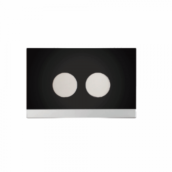 Teos Series Black-Chrome Handle plate - 58500070
