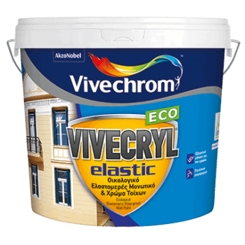 VIVECHROM - VIVECRYL ELASTIC ECO / Eco-Friendly Elastomeric Insulating & Wall Color - 88104