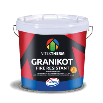 VITEXTHERM - Granikot Fire Resistant / High Quality Non-Flammable Acrylic Plaster for FLAT Finish White 25kg - 88435