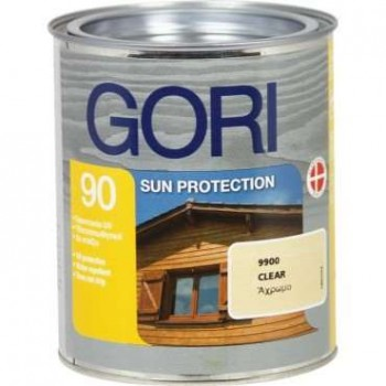 Gori 90 Sun Protection / Transparent Glossy Solvent Soaking Varnish for Long Lasting Wood Protection - 71552