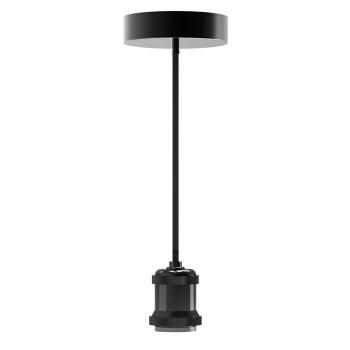 Black Metal Matte Base Lamp Vintage Style E27 - 418223