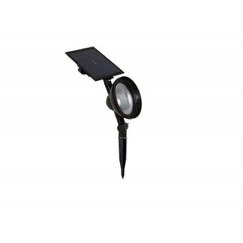 DURACELL - SOLAR LED LAMP 60-48 LUMEN BLACK METAL, PLASTIC - 32463