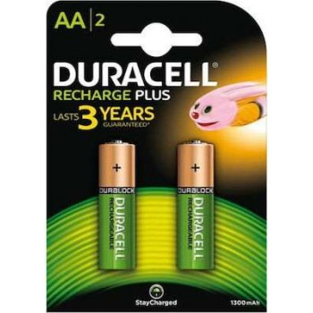 DURACELL - Rechargeable Batteries Plus AA 1300mAh 2pc - 1500