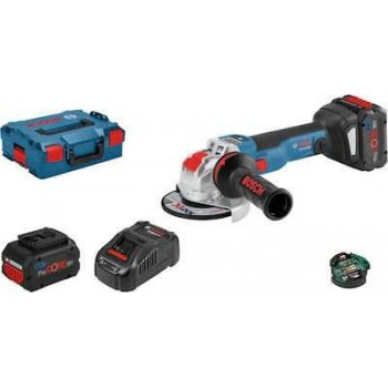 BOSCH - GWX 18V-10 SC Corner Wheel with 2 batteries 8.0 Ah Li-Ion ProCORE18V in L-BOXX - 06017B0401