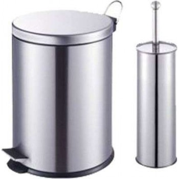 BORMANN - Carton Basket Set - Bathroom Bin 5Lt & Pigal Chrome BTW2020 - 025832