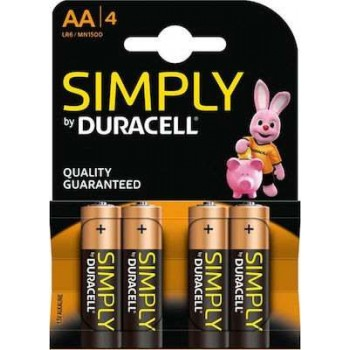 Duracell - Μπαταρία Αλκαλική Simply LR6 size AA 1.5 V Τεμ. - 6733
