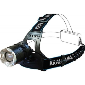 Krausmann - Led 300lm Rechargeable Head Lens - LT40140