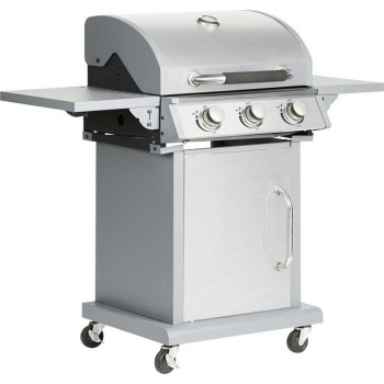 BORMANN - BBQ5030 Inox Gas Grill with Mademoisal Grill 3 Fireplaces - 033110