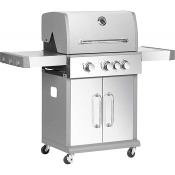 BORMANN - BBQ5040 Inox Gas Grill with Mademoisal Grill 3+1 Focal Points - 033103