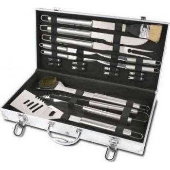 BORMANN - BBQ1015 Σετ Εργαλεία BBQ Inox σε Βαλίτσα 16 Τεμαχίων - 033349