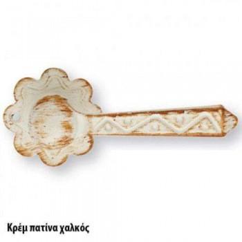 SET Knobs for Door ZOGOMETAL Rustic series 135 copper Patina