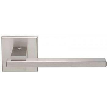Setknob for door handle with rosette series 366 in nickel Matt