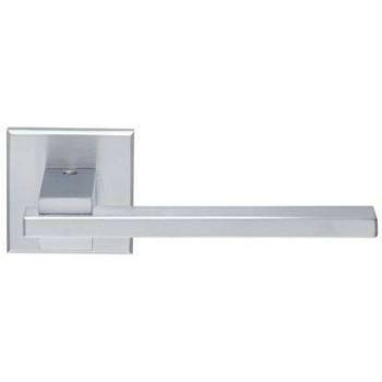 Setknob-door handle with rosette series 366 chrome Matte