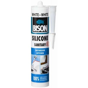 BISON-Silicone Antimouchli for bathroom-kitchen white 66953