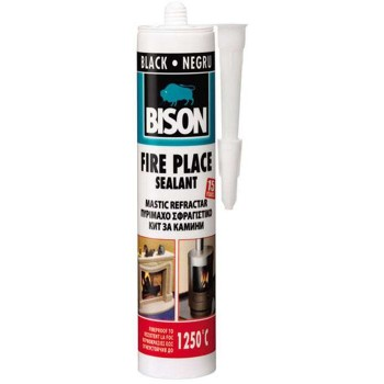 Bison-Fire Place refractory insulating (black) 310ml 17618